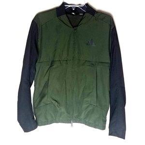 Adidas hunter green windbreaker light jacket